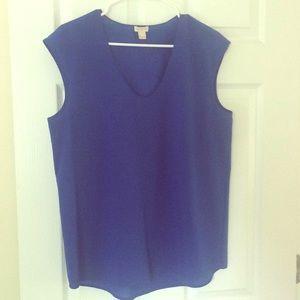 J. Crew cobalt blue shell blouse size 10